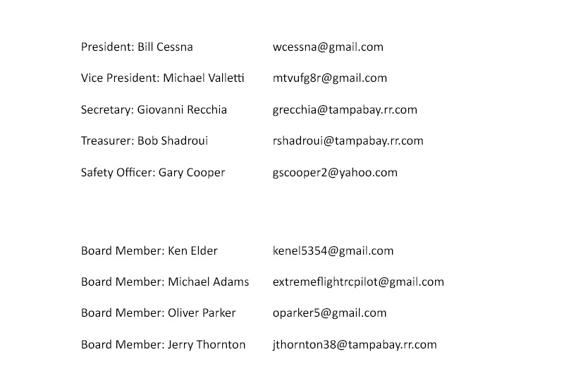 2019 Officers Emails